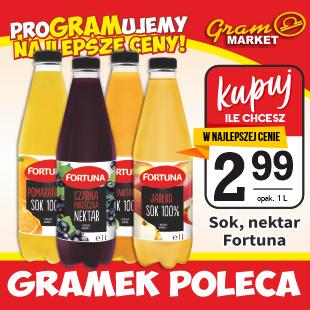 sok, nektar Fortuna 1 L