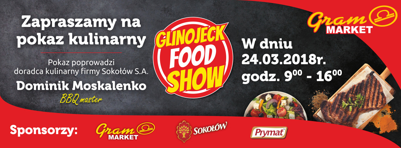 Glinojeck Food Show, pokaz kulinarny poprowadzi Dominik Moskalenko, doradca kulinarny firmy Sokołów S.A.
