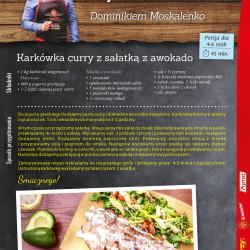2 - Karkówka curry z sałatką z awokado