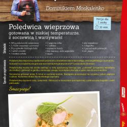Polędwica wieprzowa gotowana w niskiej temperaturze, z soczewicą i warzywami