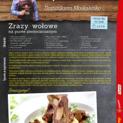 5 - zrazy wołowe na purée ziemniaczanym