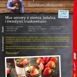 7 - mus serowy z ziemią jadalną i świeżymi truskawkami