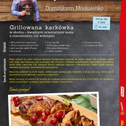 9 - grillowana karkówka w słodko - kwaśnym orientalnym sosie z czereśniami lub wiśniami