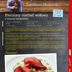 13 - pieczony rostbef wołowy z sosem tatarskim