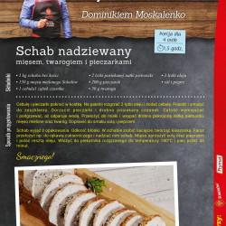 Schab nadziewany mięsem, twarogiem i pieczarkami