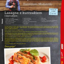 28 - lasagne z kurczakiem i szpinakiem