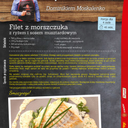 Filet z morszczuka z ryżem i sosem musztardowym