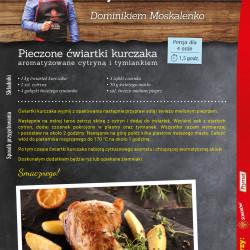 Pieczone ćwiartki kurczaka aromatyzowane cytryną i tymiankiem