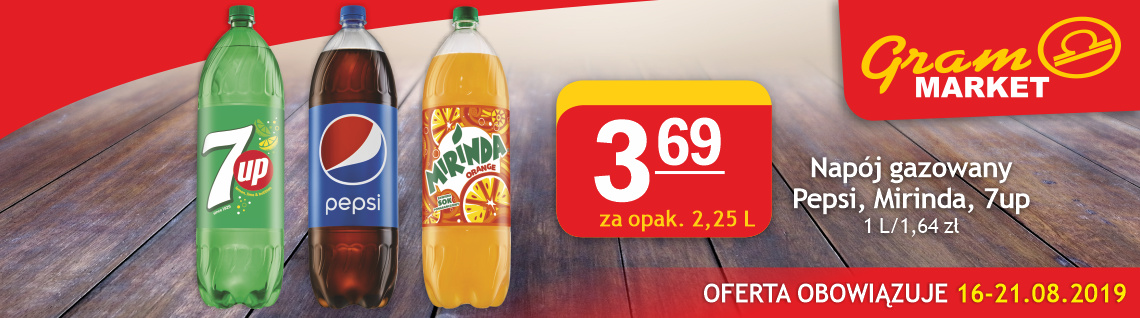 Pepsi, Mirinda, 7up 2,25L