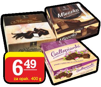 mleczko w czekoladzie, Gallopianki Dobosz