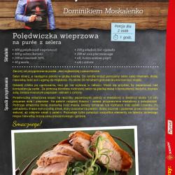 Polędwiczka wieprzowa na pure z selera