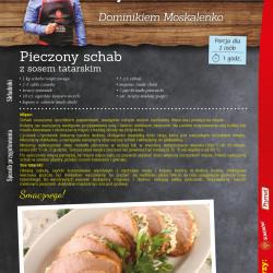 Schab pieczony z sosem tatarskim