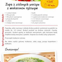 Zupa z zielonych warzyw z makaronem sojowym