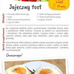 Jajeczny tost