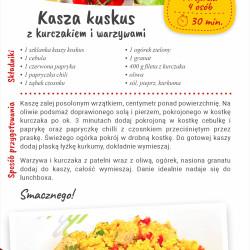 Kasza kuskus z kurczakiem i warzywami