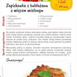 Zapiekanka z bakłażana z mięsem mielonym