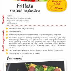 Frittata z salami i szpinakiem