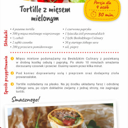 Tortille z mięsem mielonym