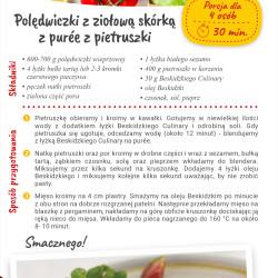 Polędwiczki z ziołową skórką z purée z pietruszki